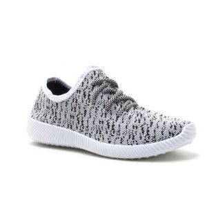 White/Black Lightweight Sneakers